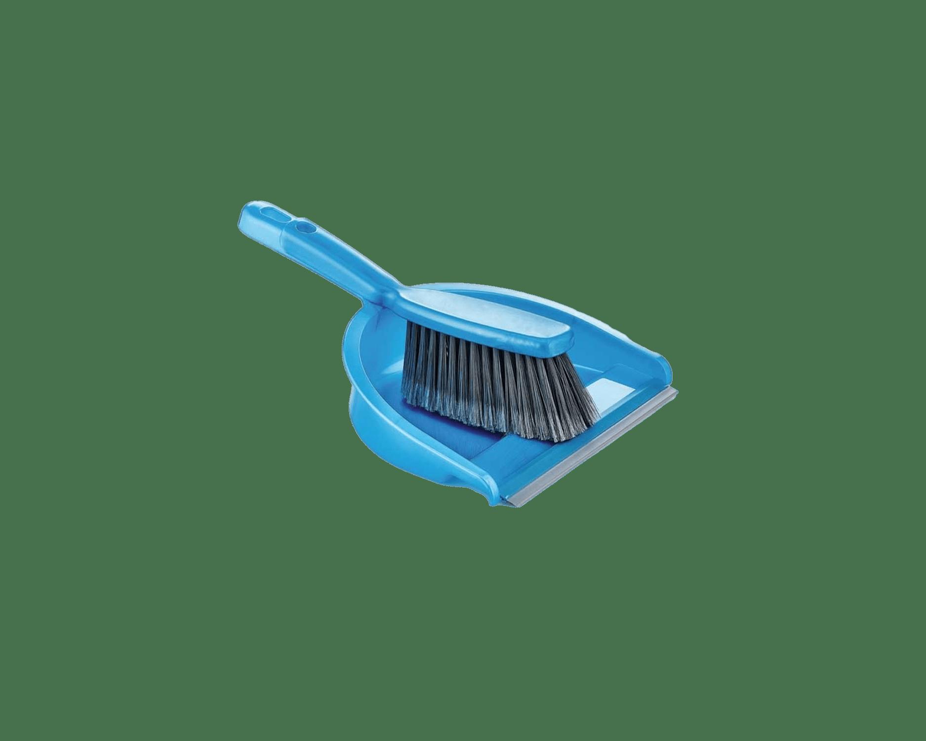 brush and dustpan blue