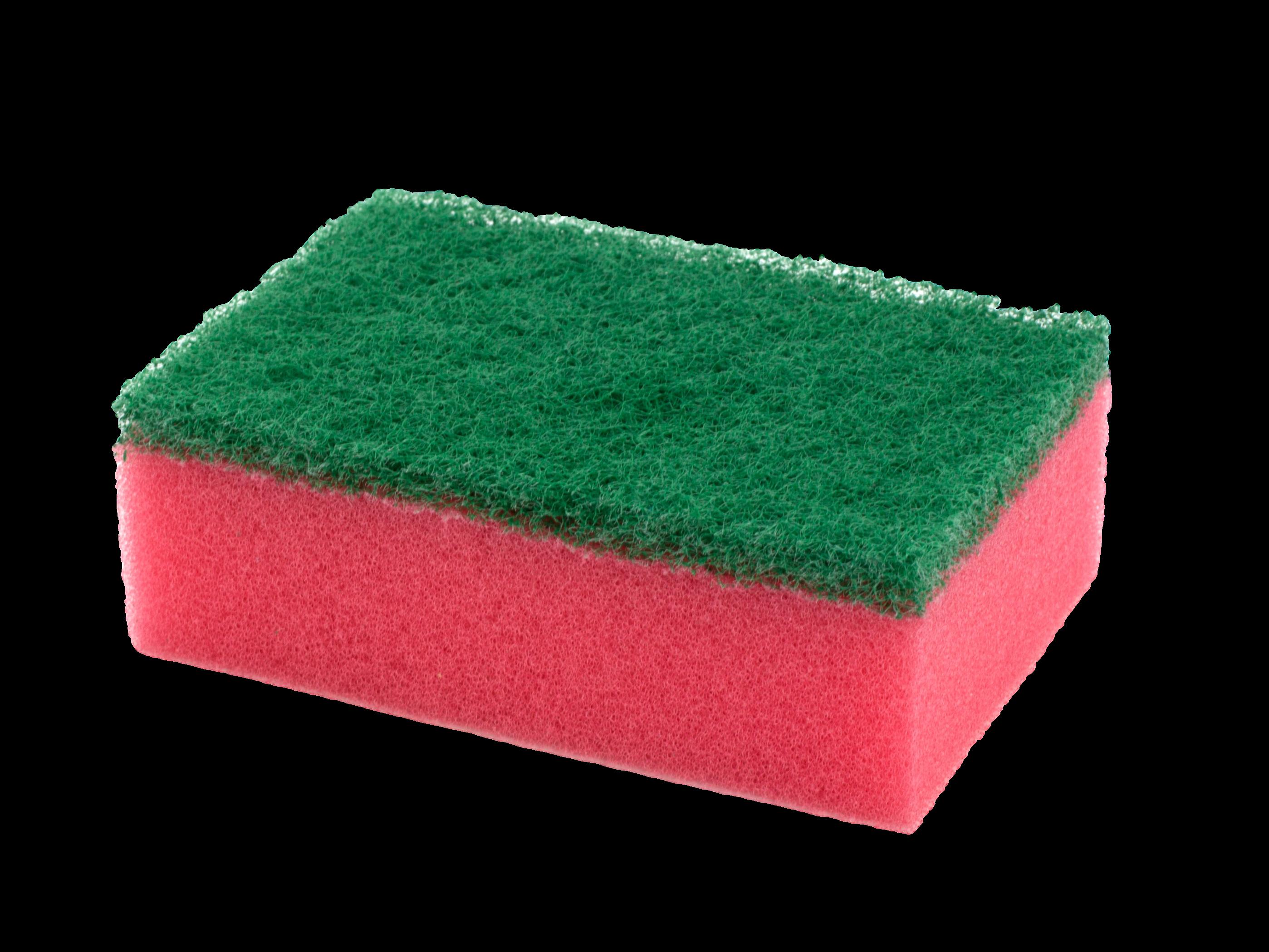 economic flat scouring sponge pink