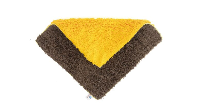 Double Sided Car Cleaning Microfiber Cloth Brown (Square)