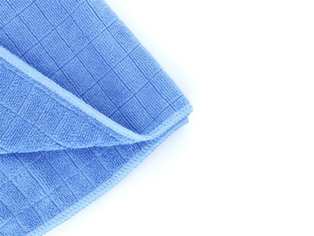 General Cleaning Microfiber Checkered Cloth Blue