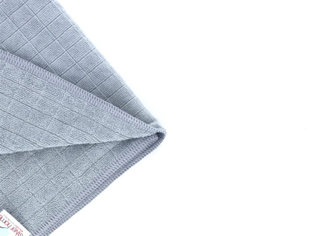 General Cleaning Microfiber Checkered Cloth Grey