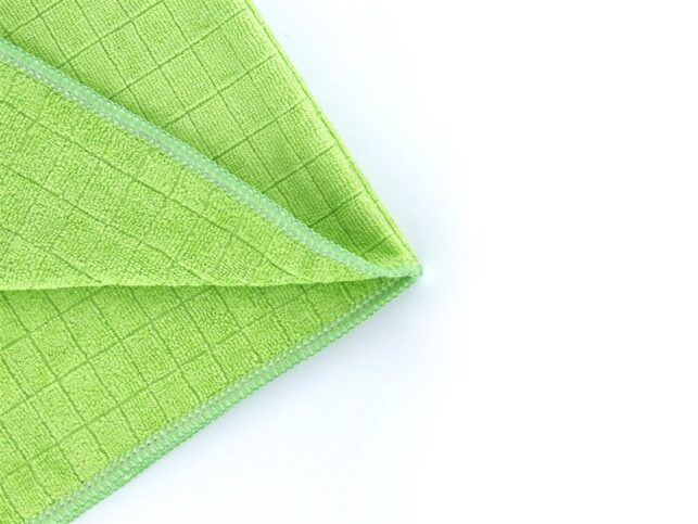 General Cleaning Microfiber Checkered Cloth Green