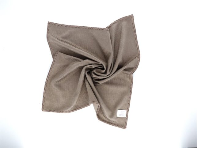 Microfiber Thick Glass Cleaning Cloth Brown