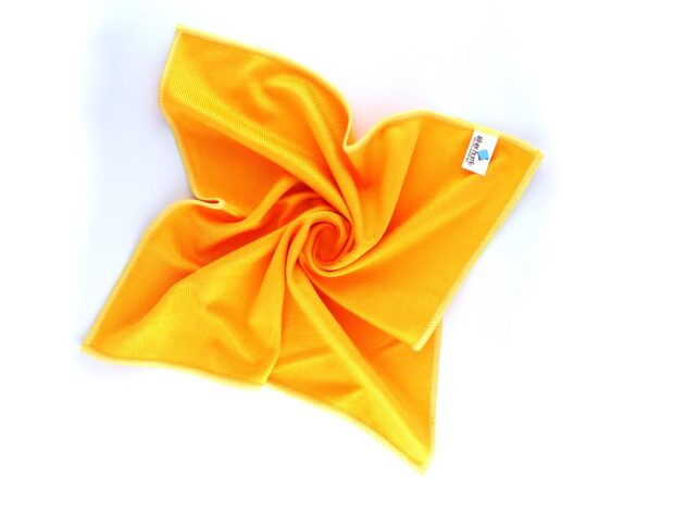 Microfiber Thick Glass Cleaning Cloth Yellow
