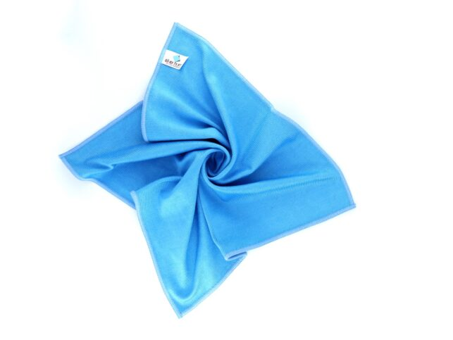 Microfiber Thick Glass Cleaning Cloth Blue
