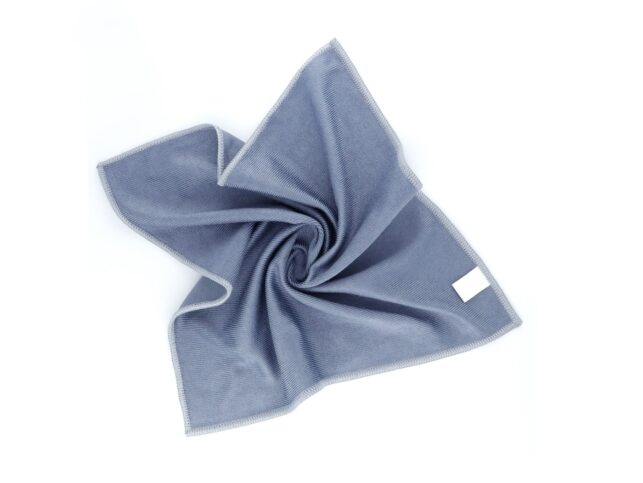 Microfiber Thick Glass Cleaning Cloth Grey