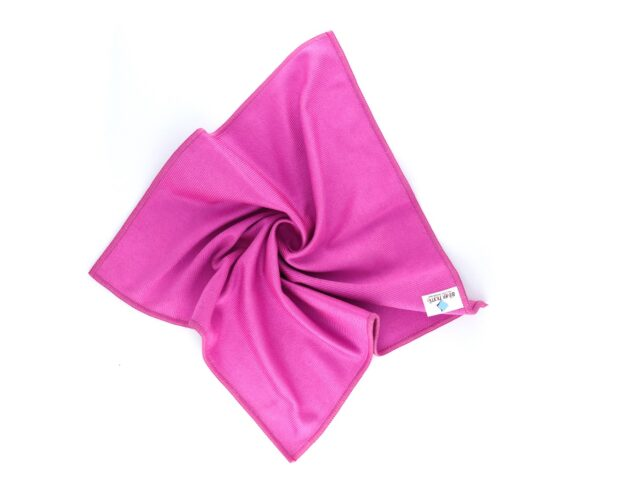 Microfiber Thick Glass Cleaning Cloth Pink