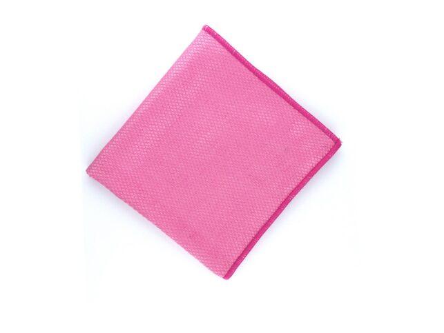 Diamond Pattern Microfiber Glass Cloth Pink
