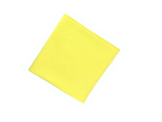 Diamond Pattern Microfiber Glass Cloth Yellow