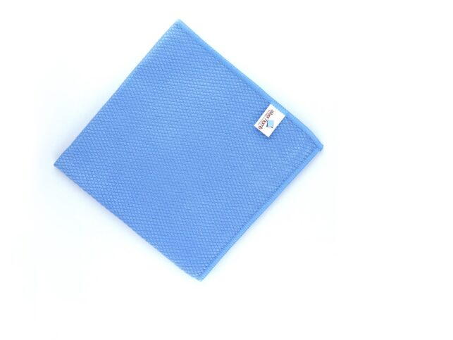 Diamond Pattern Microfiber Glass Cloth Blue