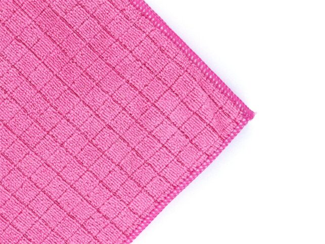 Microfiber Sılvery Scouring Cloth Pink