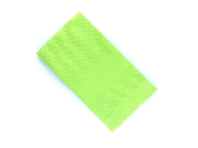 Decorative Microfiber Glass Cleaning Cloth Green