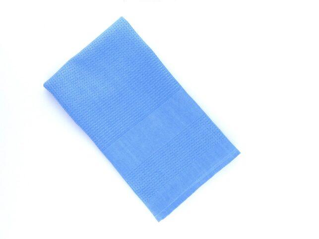 Decorative Microfiber Glass Cleaning Cloth Blue