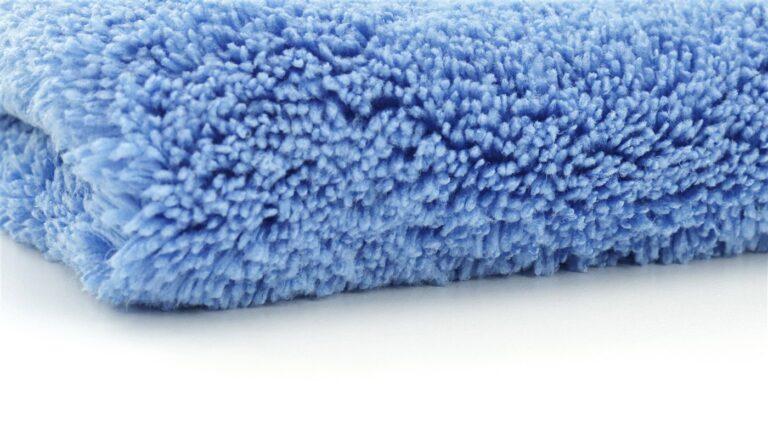 Microfiber Car Cleaning Cloth Blue