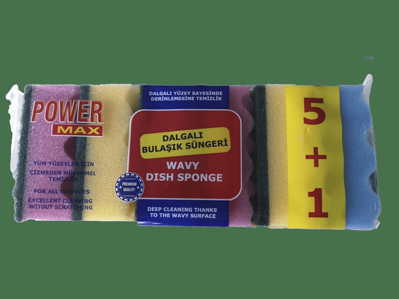 wavy scouring sponge